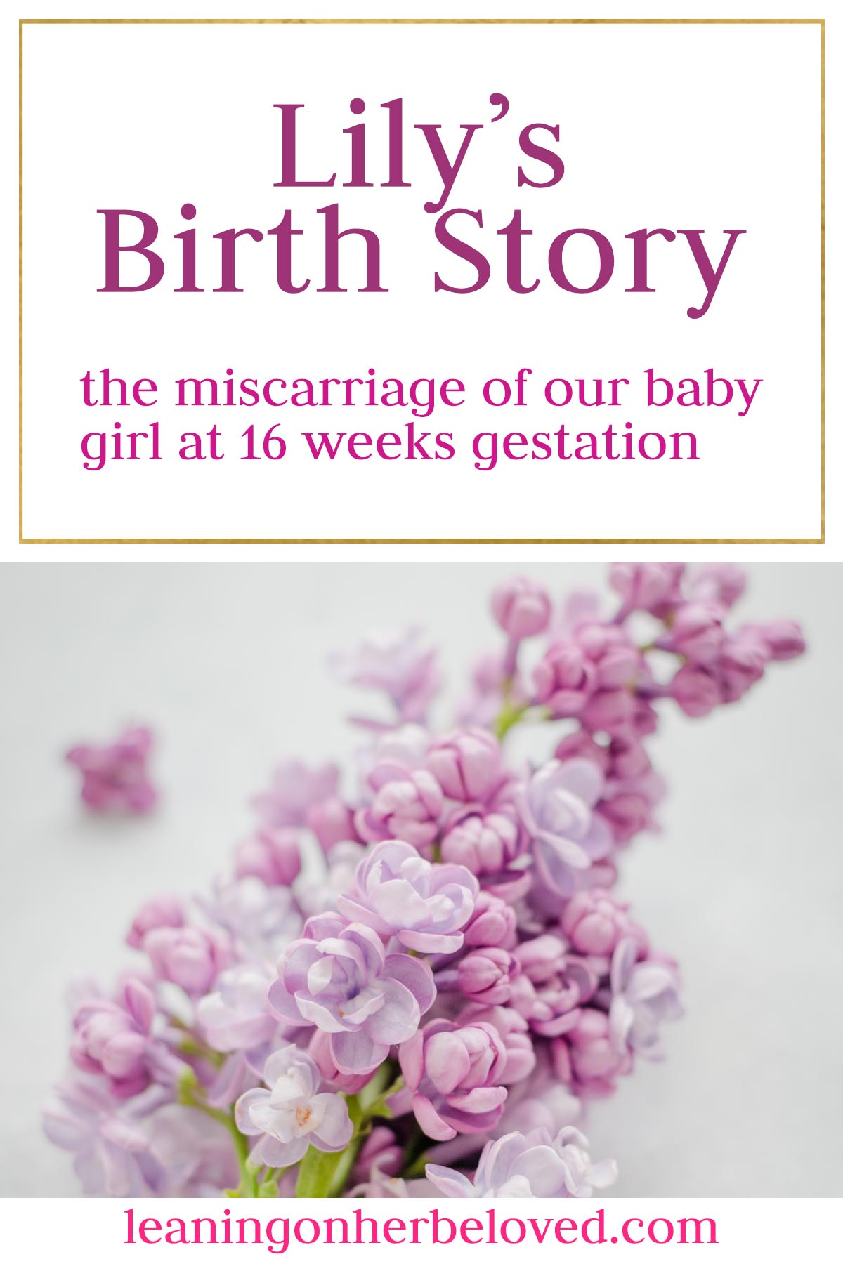 Lily's birth story is about the miscarriage of our baby at 16 weeks gestation | #miscarriage | #birthstory | #traumatic birth