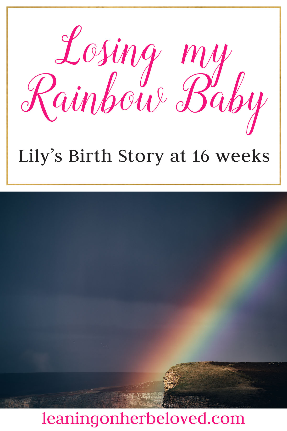 Losing our Rainbow Baby at 16 weeks was devastating. Here is our story of choosing to heal. #miscarriage