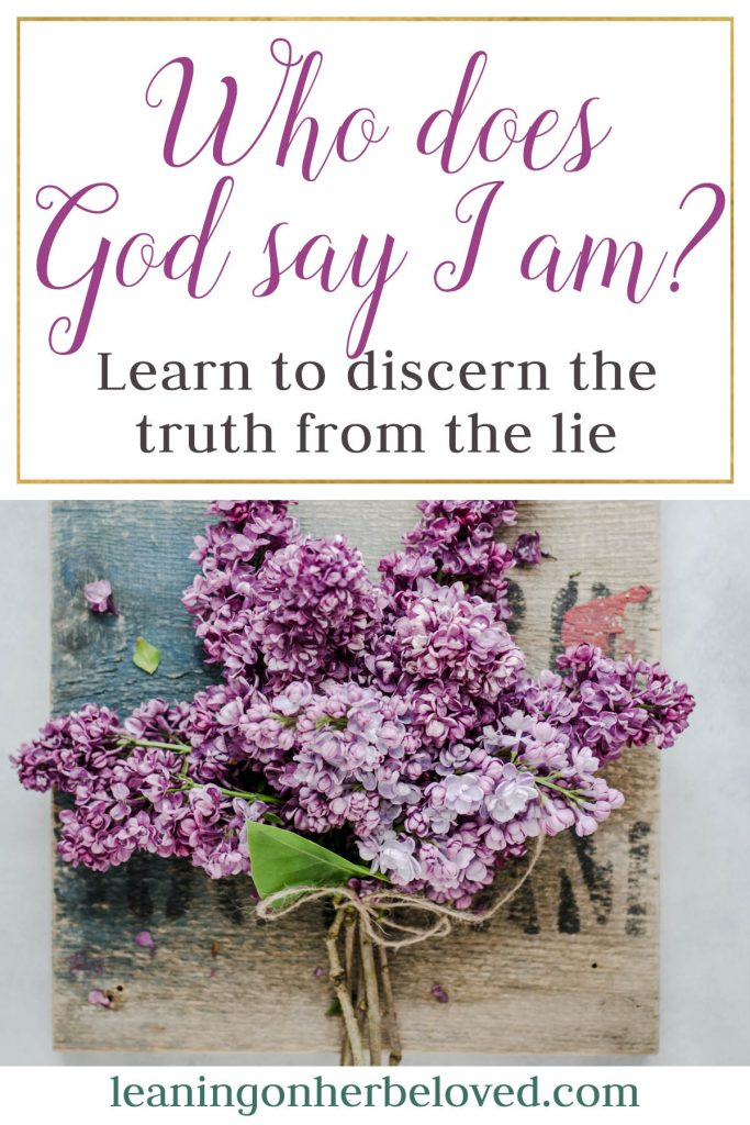 If we are not careful, we will build our belief system about God and ourselves based on lies that have been whispered to us by the enemy.  We must seek His truth about us! | Identity
